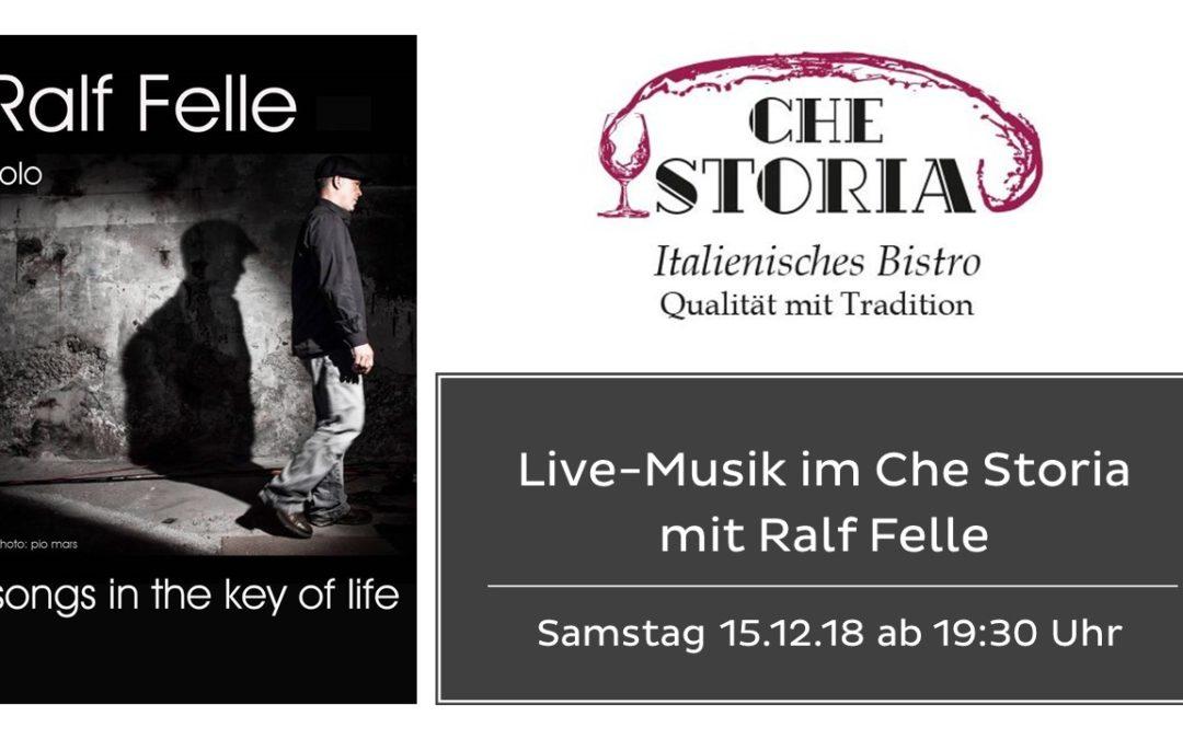 Live-Musik mit Ralf Felle – Samstag 15.12.2018 ab 19:30