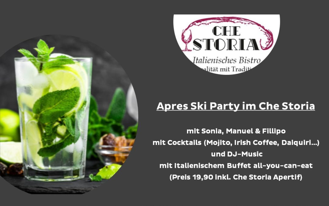 Apres Ski Party im Che Storia – 9.2.109 ab 17:30